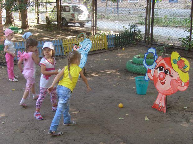 Летнее оформление детского сада